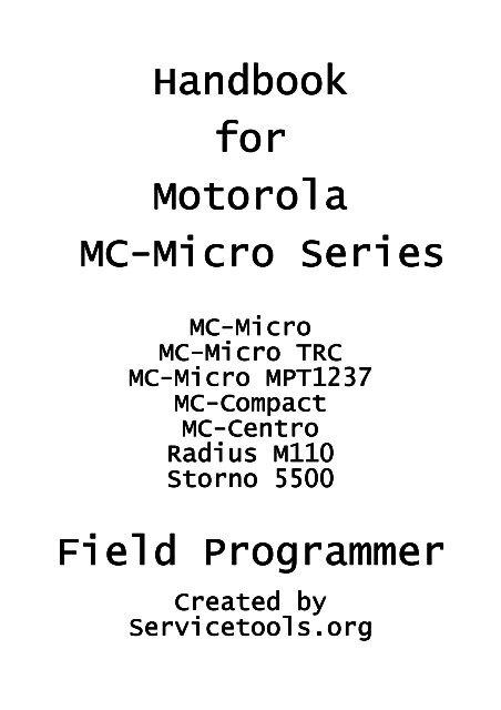 Handbook for Motorola MC -Micro Series Micro ... - Servicetools.org