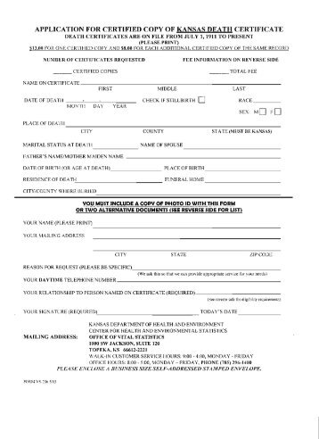request for death certificate