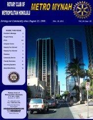 November 10, 2011 - Rotary Club of Metropolitan Honolulu