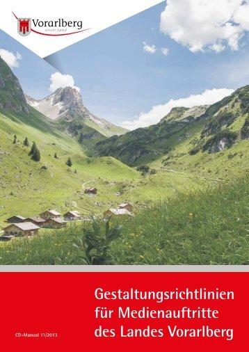 Gestaltungsrichtlinien für Medienauftritte des Landes Vorarlberg