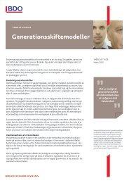Generationsskiftemodeller - BDO