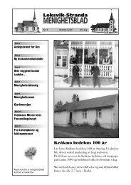 Kråkmo bedehus 100 år - Mediamannen