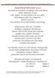 """Auf Wunsch dazu zum """"Brunch"""" Das  warme Menü - Kirchspielskrug ..."""