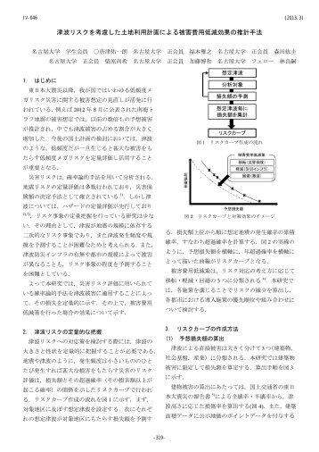 津波リスクを考慮した土地利用計画による被害費用低減 ... - 名古屋大学