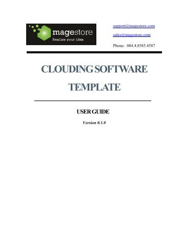 clouding software template user guide - Magento extensions
