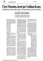 Circo Massimo, lavori per 3 milioni di euro - Dipartimento della ...