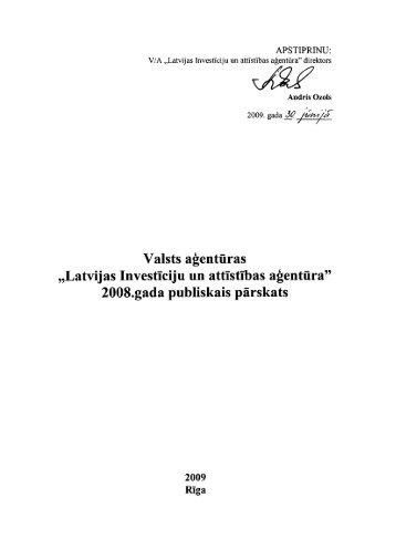 """Valsts aģentūras """"Latvijas Investīciju un attīstības aģentūra ... - LIAA"""