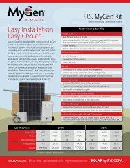 Easy Installation Easy Choice - KYOCERA Solar