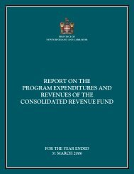 Report on the Program Expenditures and Revenues of the ...
