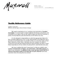 Textile Reference Guide - April 2011 - Maxwell Fabrics