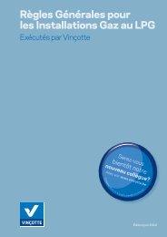 Règles Générales pour les Installations Gaz au LPG - Vinçotte