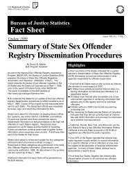 Summary of State Sex Offender Registry Dissemination Procedures ...