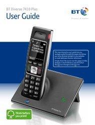 BT Diverse 7410 Plus User Guide - PMC Telecom