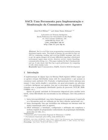 SACI: Uma Ferramenta para Implementação e ... - ResearchGate