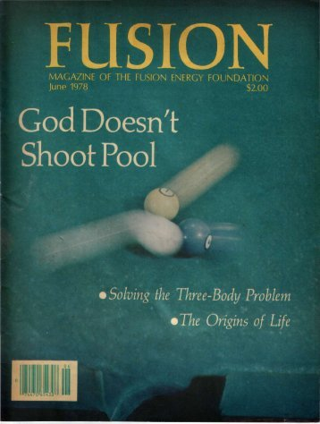 MAGAZINE OF THE FUSION ENERGY FOUNDATION June 1978 ...