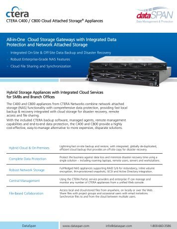 All-in-One Cloud Storage Gateways with Integrated Data ... - DataSpan
