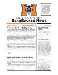 BEARBACKER NEWS - Mercer University