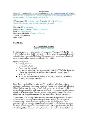 07 cover letter template and sample city university of hong kong - Cover Letter University