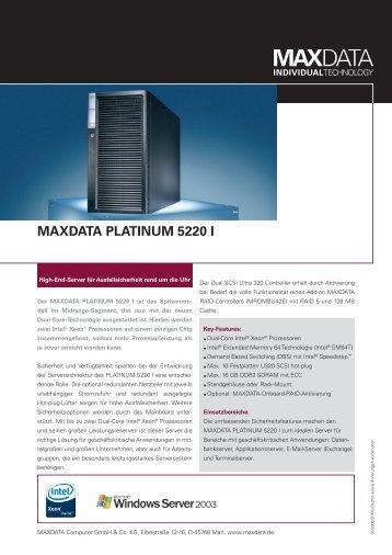 MAXDATA PLATINUM 5220 I