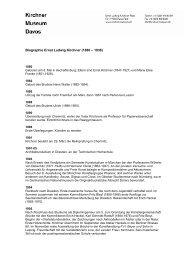 Biographie Ernst Ludwig Kirchner - Kirchner Museum Davos
