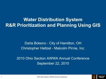 Water Distribution System R&R Prioritization and ... - Ohiowater.org