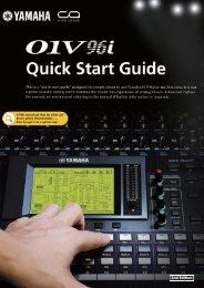 01V96i Quick Start Guide 2nd Edition - Yamaha Downloads