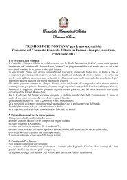 Premio Lucio Fontana - Consolato Generale d'Italia in Argentina