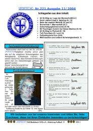 SPORTECHO Nr.221,Ausgabe 11/2004 Schadensmeldung TuS ...