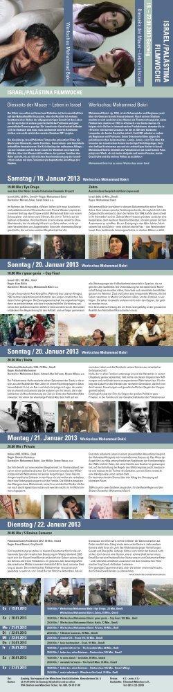 Israel/Palästina Filmwoche - Filmstadt München