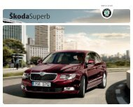 Каталог Superb.pdf - Skoda Auto