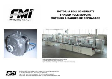 motori a poli schermati shaded pole motors moteurs à bagues de ...