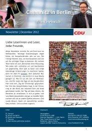 Newsletter | Dezember 2012 Liebe Leserinnen und ... - Frank Heinrich