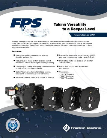 FPS Convertible VersaJet Brochure - Franklin Electric