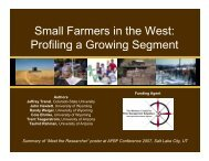 Small Farmers in the West - Rural Family Ventures