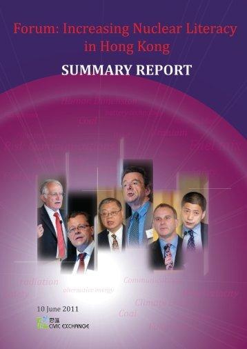 Download workshop summary report - Civic Exchange