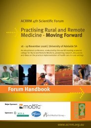 Forum Handbook - Australian College of Rural and Remote Medicine