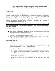 Request for Disclosure of Registrant Information for Law ...