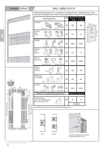 Vertikale Schiebetechnik für Möbel - G. Kirchner