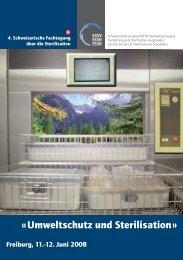 « Umweltschutz und Sterilisation »