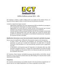 Communiqué du 18 janvier 2012 - Groupe NSE