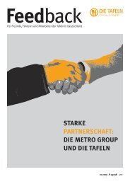 Feedback Magazin Deutsche tafeln e.V. - Kirchhoff Consult AG