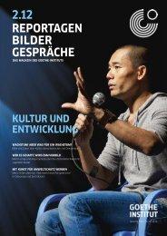 Das Magazin des Goethe-Instituts | 2.12 | PDF German - Heinsdorff ...