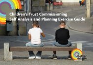 Children's Trust Commissioning Self Analysis and ...  - Kent Trust Web