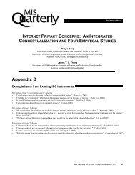 Internet Privacy Concerns - MIS Quarterly