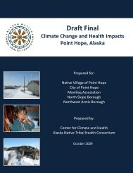 Draft Final Climate Change and Health Impacts Point ... - ANTHC
