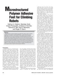 Microstructured Polymer Adhesive Feet for Climbing Robots