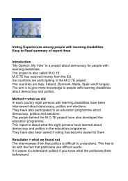 Voting Experiences among people with learning disabilities Easy to ...