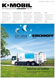 INNOVATION AUS TRADITION - Kirchhoff Gruppe