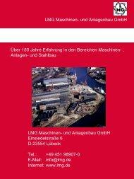 Anlagen- und Stahlbau LMG Maschinen- und Anlagenbau GmbH ...