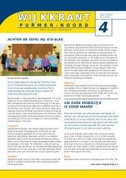 Wijkkrant juli 2013 - Gemeente Purmerend